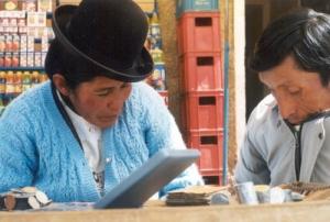 /A troca de moedas em Copacaba - Bolívia