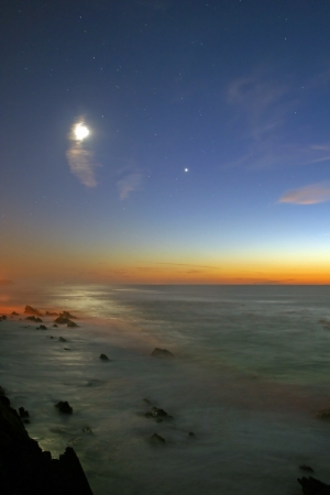 Paisagem Natural/Paixão entre a Lua e o Mar...