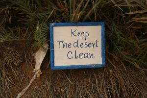 Outros/Keep desert clean