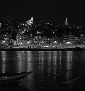 Paisagem Urbana/Porto Nocturno... a preto e branco