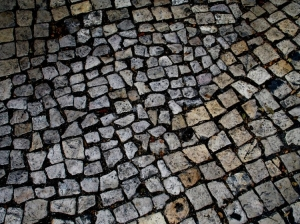 Paisagem Urbana/pedras da calçada
