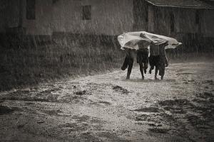 Fotojornalismo/Correndo na Chuva