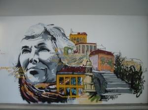 Outros/Grafitis num parque de estacionamento