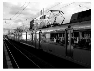 /Chega o comboio...