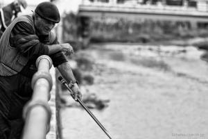 /À pesca...