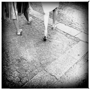 Retratos/Amigas caminhando