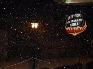 /Flocos de neve na noite.