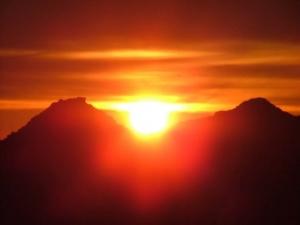 /Sol nas montanhas