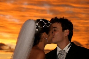 /Just married at Sunset