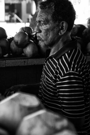 Retratos/Vendedor de coco