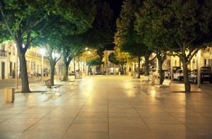 Paisagem Urbana/Beja a noite na Praça da República