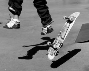 /Na sombra do Skater