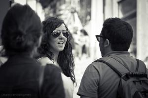 Gentes e Locais/Girl with mirrored sunglasses