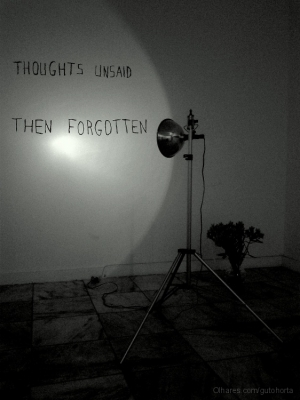 Outros/thoughts unsaid then forgotten