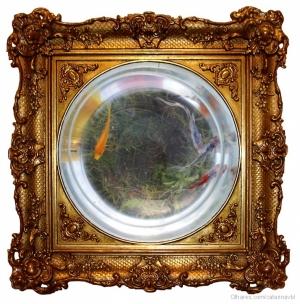 Outros/Bottomless golden frame