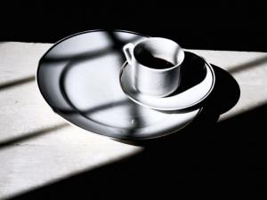 Abstrato/Café com geometrias