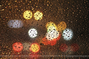 Abstrato/Lá fora,na cidade, a chuva cai...