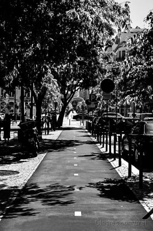 Paisagem Urbana/Lisboa a P&B - via ciclista…