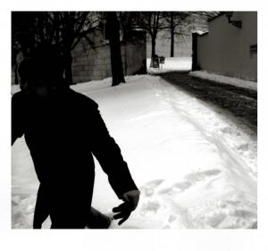 /caderno de viagem - fuga apressada sobre neve