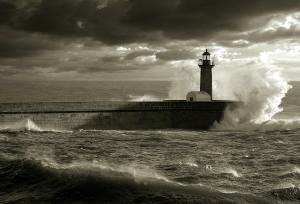 Paisagem Natural/Tempestade no mar..