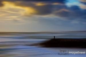Abstrato/O pescador do Pôr de Sol