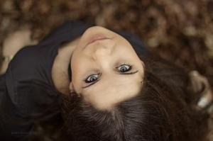 Retratos/olhos azuis mar