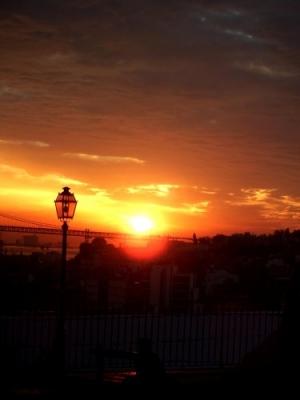 /Pôr do Sol na cidade