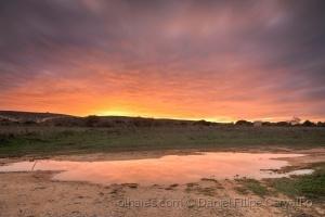 Paisagem Natural/Chuva ao pôr-do-sol