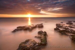 Paisagem Natural/Pôr do Sol nas Pedras Amarelas