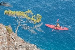 Paisagem Natural/Mar azul.