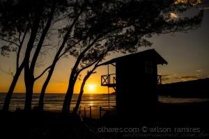 Paisagem Natural/Nascer do sol na Praia do Rosa-SC