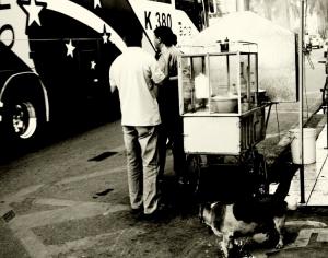 /O cão Estrela gosta da distração do churrasqueiro
