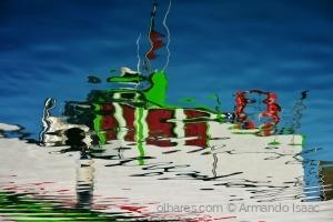 Abstrato/Navio ao fundo