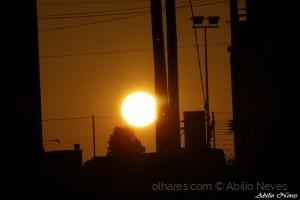 Paisagem Urbana/por sol urbano