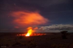 /cratera Halema'uma'u - eua, havai