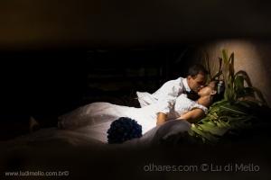 Retratos/cama de capim