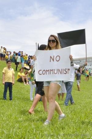 Fotojornalismo/Não ao Comunismo...Brasília_Brasil