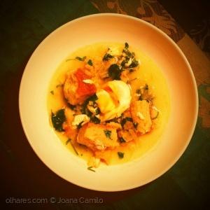 Gastronomia/A açorda de bacalhau