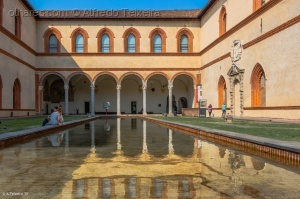 /Interior do Castello Sforzesco...