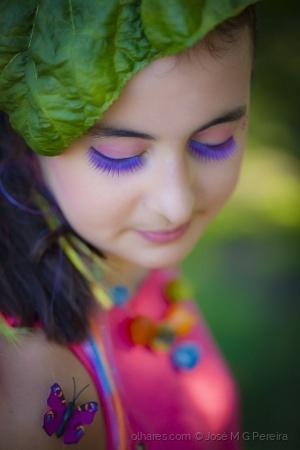 Retratos/a menina das cores