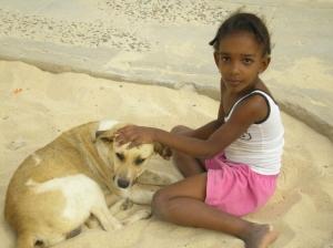Retratos/Minina e seu Cão