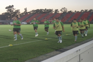 Desporto e Ação/Equipa do SPORTING no aquecimento