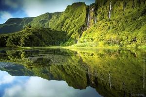 Paisagem Natural/Portugal - Açores - Lago dos Patos, Flores