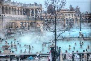 /Budapeste - piscinas a 26º a 28º  em Dezembro