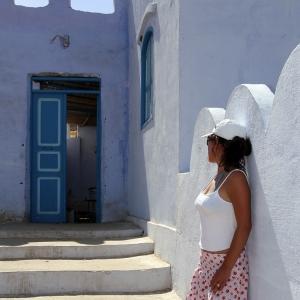 /The blue door