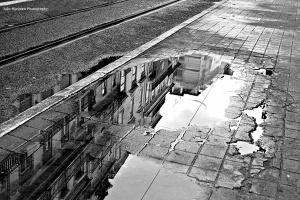Paisagem Urbana/Ver os telhados lá em cima...no chão