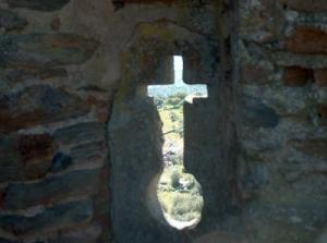 História/vigia em cruz no Castelo de Monsaraz