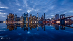 "/""Blue NYC Skyline"" (136_360)"
