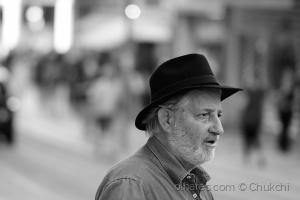 Retratos/O homem do chapéu preto