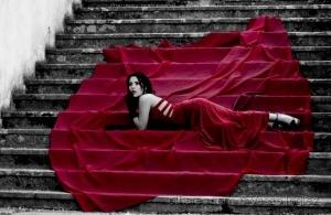 Retratos/Escadas vermelhas
